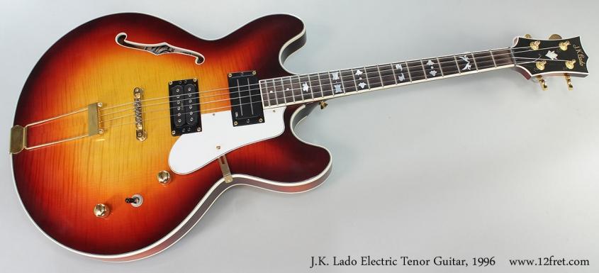 J.K. Lado Electric Tenor Guitar, 1996 Full Front View
