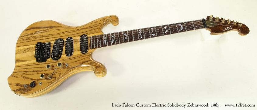 Lado Falcon Custom Electric Solidbody Zebrawood, 1983  Full Front View