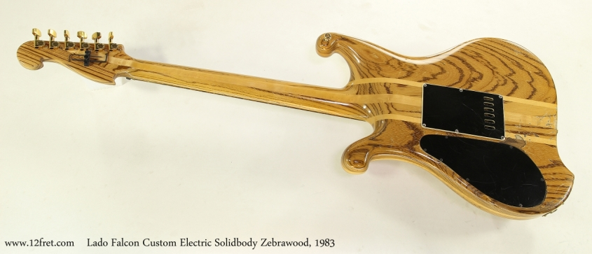 Lado Falcon Custom Electric Solidbody Zebrawood, 1983  Full Rear View