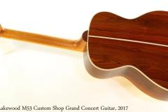 Lakewood M53 Custom Shop Grand Concert Guitar, 2017 Full Rear View