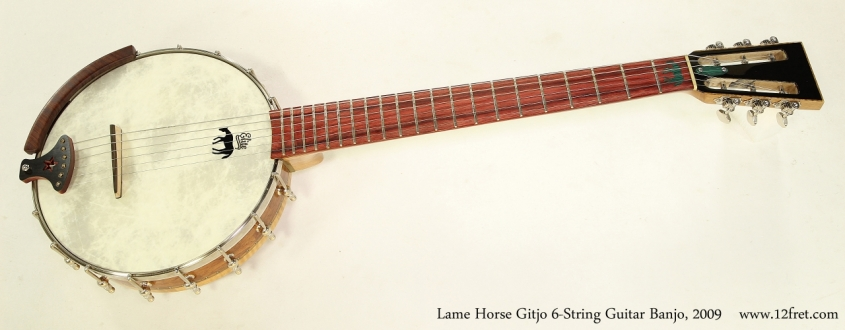 Lame Horse Gitjo 6-String Guitar Banjo, 2009   Full Front View