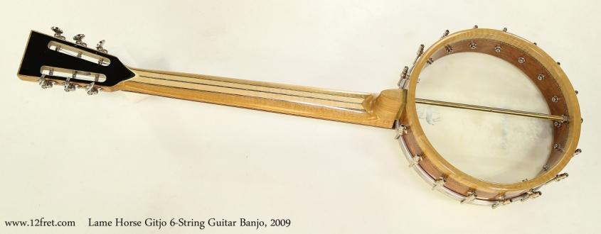 Lame Horse Gitjo 6-String Guitar Banjo, 2009  Full Rear View