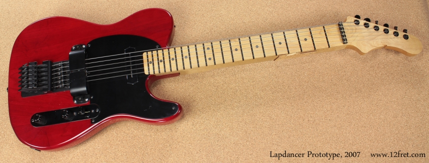 Lapdancer prototype lap steel 2007 full front view