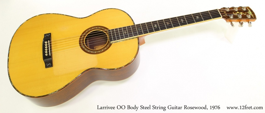 Larrivee OO Body Steel String Guitar Rosewood, 1976 Full Front View