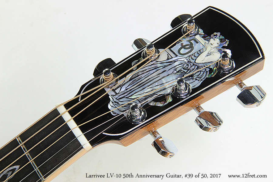 Larrivee LV-10 50th Anniversary Guitar, #39 of 50, 2017  Head Front View
