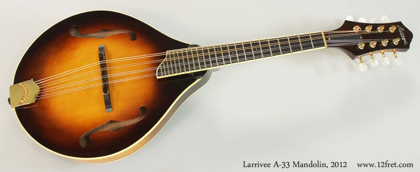 Larrivee A-33 Mandolin, 2012 Full Front VIew