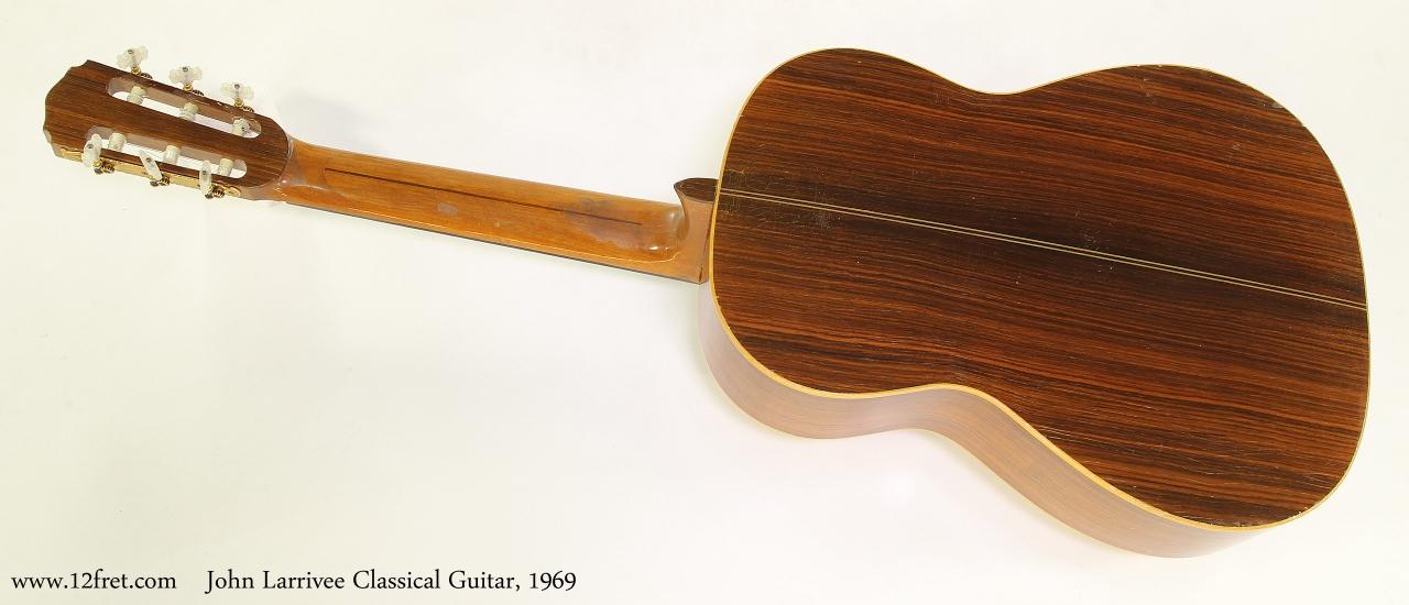 John Larrivee Classical Guitar, 1969  Full Rear View