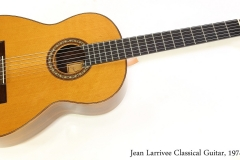 Jean Larrivee Classical Guitar, 1974  Full Front View