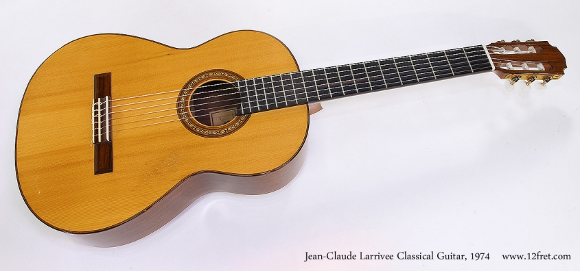 Jean-Claude Larrivee Classical Guitar, 1974 Full Front View