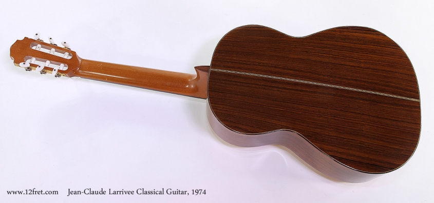 Jean-Claude Larrivee Classical Guitar, 1974 Full Rear View