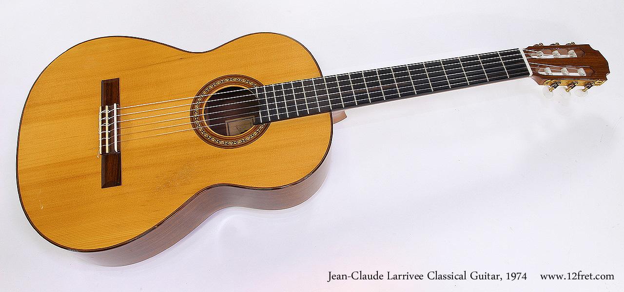 Jean-Claude Larrivee Classical Guitar, 1974 Full Front View