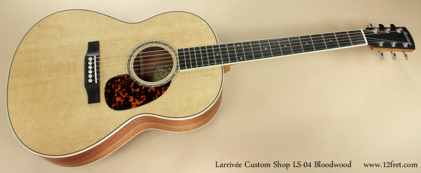 Larrivee Custom Shop LS-04 Bloodwood full front view