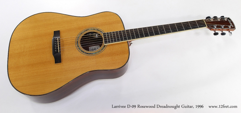 Larrivee D-09 Rosewood Dreadnought Guitar, 1996 Full Front View