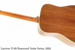 Larrivee D-09 Rosewood Artist Series, 2005 Full Rear View