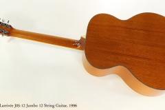 Larrivée J05-12 Jumbo 12 String Guitar, 1996   Full Rear View