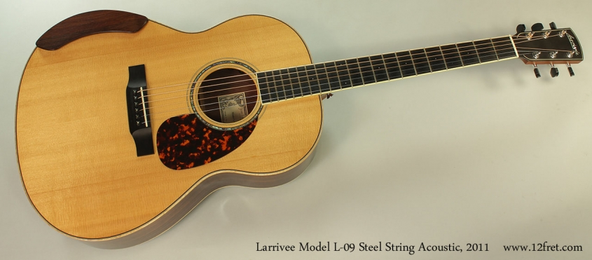 Larrivee Model L-09 Steel String Acoustic, 2011 Full Front View