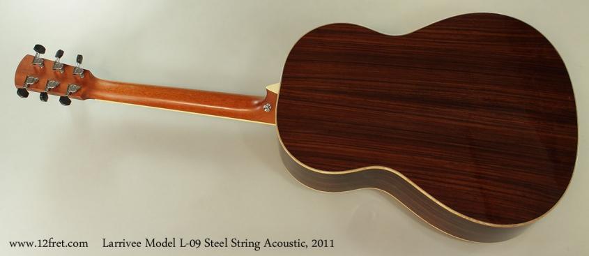 Larrivee Model L-09 Steel String Acoustic, 2011 Full Rear View