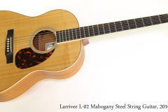 Larrivee L-02 Mahogany Steel String Guitar, 2010 Full Front View