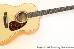 Larrivee L03 Recording Series Natural Full Front View