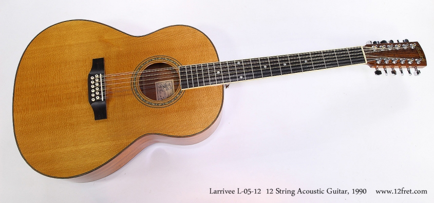 Larrivee L-05-12 12 String Acoustic Guitar, 1990 Full Front View