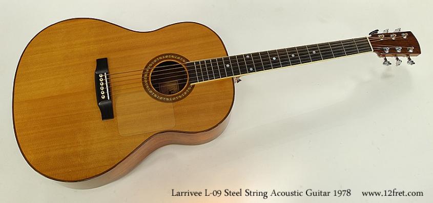Larrivee L-09 Steel String Acoustic Guitar 1978 Full Front View