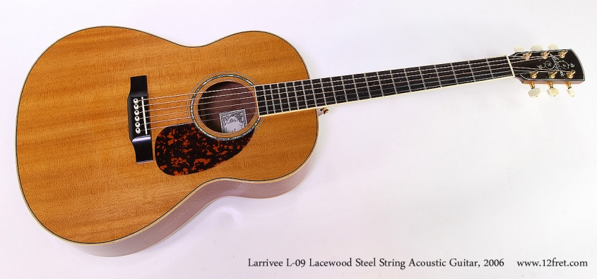 Larrivee L-09 Lacewood Steel String Acoustic Guitar, 2006 Full Front View