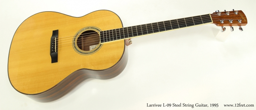 Larrivee L-09 Steel String Guitar, 1995  Full Front View