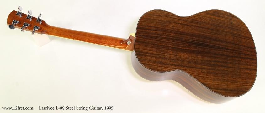 Larrivee L-09 Steel String Guitar, 1995  Full Rear View