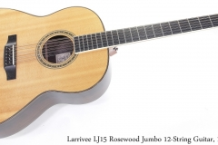 Larrivee LJ15 Rosewood Jumbo 12-String Guitar, 1992 Full Front View