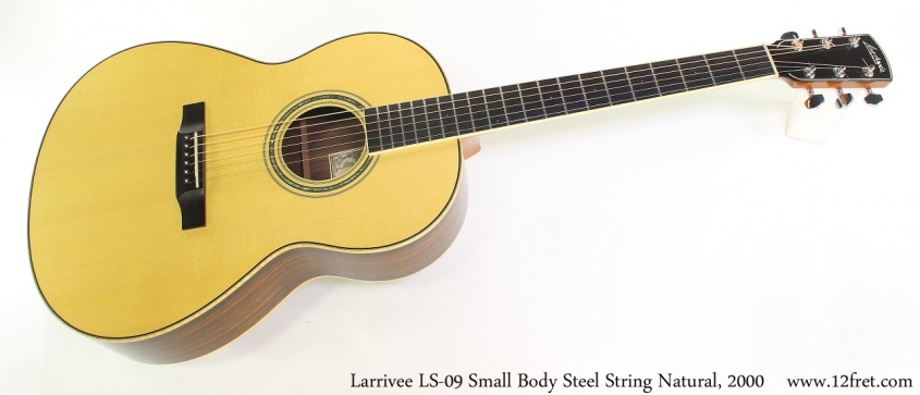 Larrivee LS-09 Small Body Steel String Natural, 2000 Full Front View