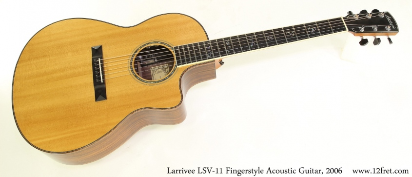Larrivee LSV-11 Fingerstyle Acoustic Guitar, 2006 Full Front View