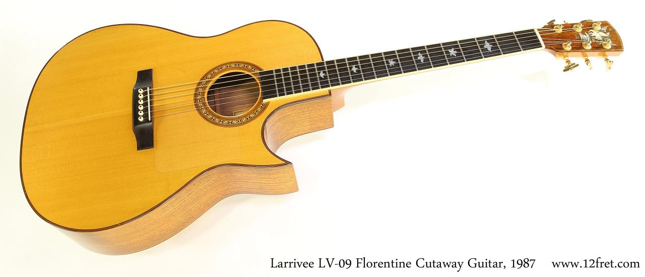 Larrivee LV09 Florentine Cutaway Guitar, 1987 Full Front View