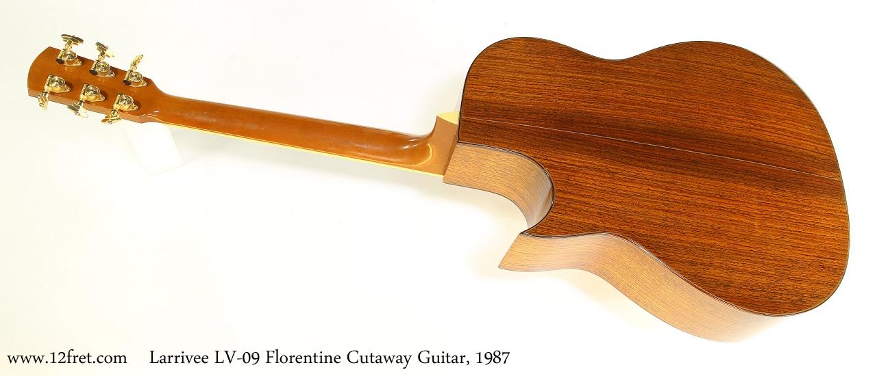Larrivee LV09 Florentine Cutaway Guitar, 1987 Full Rear View