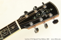 Larrivee LV19 Special Vine Edition, 2002 Head Front View