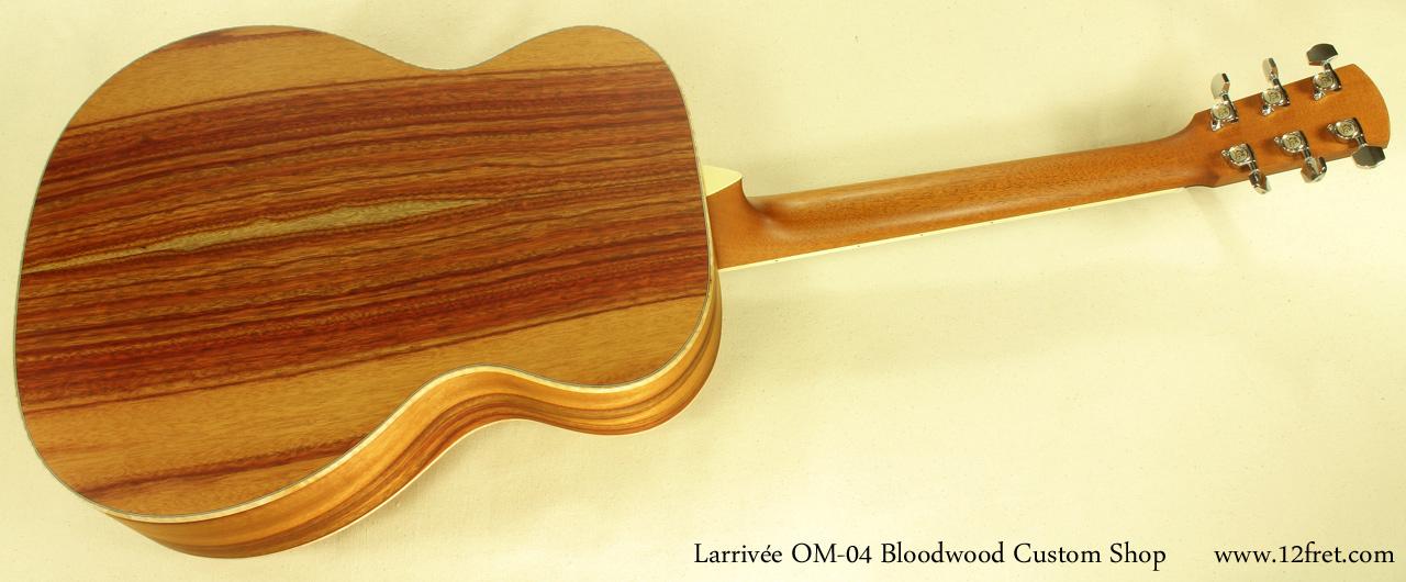 Larrivee OM-04 Bloodwood full rear