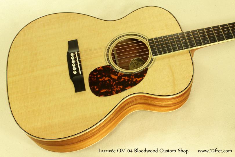 Larrivee OM-04 Bloodwood top