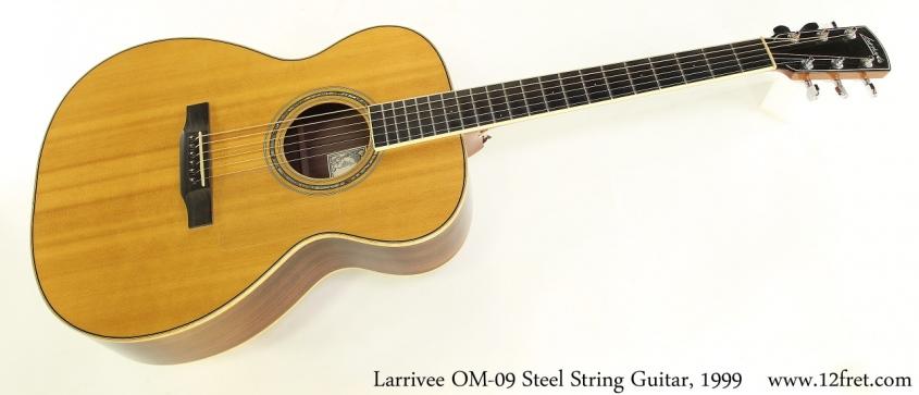 Larrivee OM-09 Steel String Guitar, 1999 Full Front View