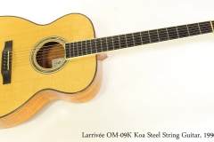 Larrivée OM-09K Koa Steel String Guitar, 1996   Full Front View
