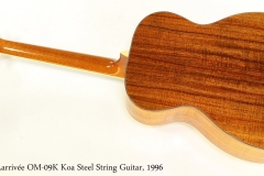 Larrivée OM-09K Koa Steel String Guitar, 1996   Full Rear View