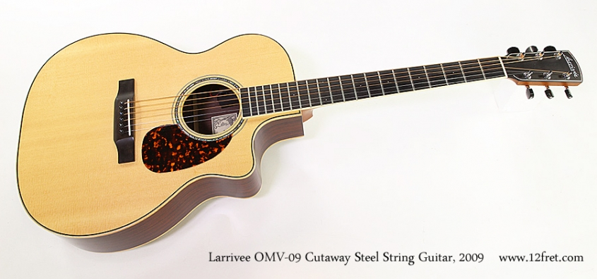 Larrivee OMV-09 Cutaway Steel String Guitar, 2009 Full Front View
