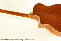 Larrivee OMV-05 Steel String Guitar, 2006 Full Rear View