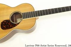 Larrivee P09 Artist Series Rosewood, 2006 Full Front View