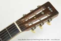 Larson Brothers Maurer 551 Steel String Guitar, late 1920s  Head Front View