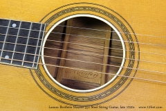 Larson Brothers Maurer 551 Steel String Guitar, late 1920s  Soundhole Stamp
