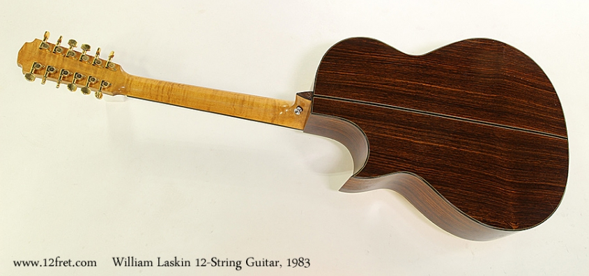 William Laskin 12-String Guitar, 1983 Full Rear View