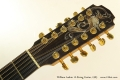 William Laskin 12-String Guitar, 1983 Head Front View