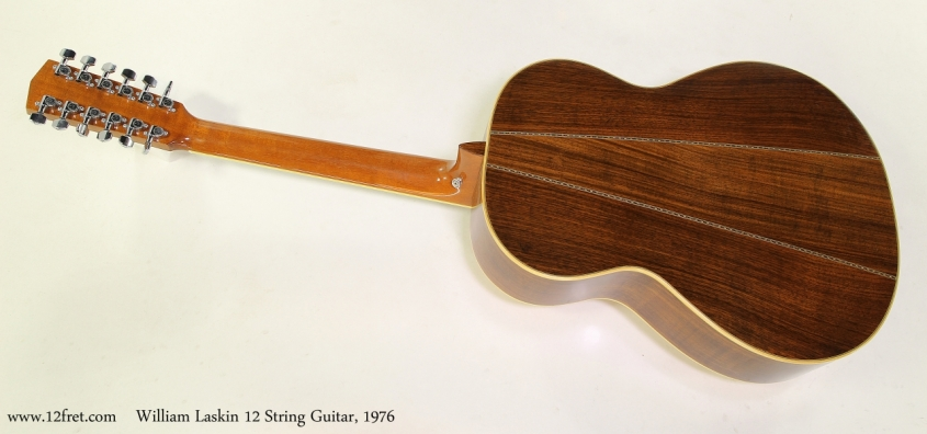 William Laskin 12 String Guitar, 1976 Full Rear View