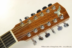 William Laskin 12 String Guitar, 1976 Head Front View