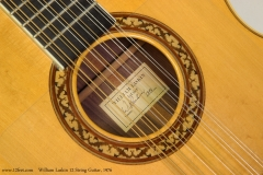 William Laskin 12 String Guitar, 1976 Label View