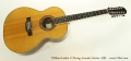 William Laskin 12 String Acoustic Guitar, 1989 Full Front View